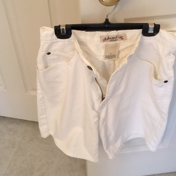 St. John's Bay Pants - St Johns Bay white jeans shorts